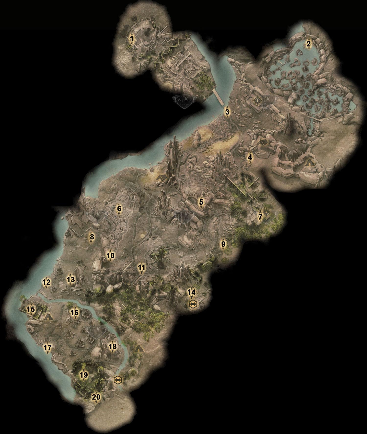 Karte von Enavuris (Map of Enavuris River) | Lösung | Dragon Age ...