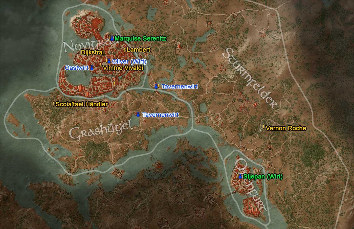 Witcher 3 Velen Karte.Gwint Sammle Sie Alle Collect Em All Losung The