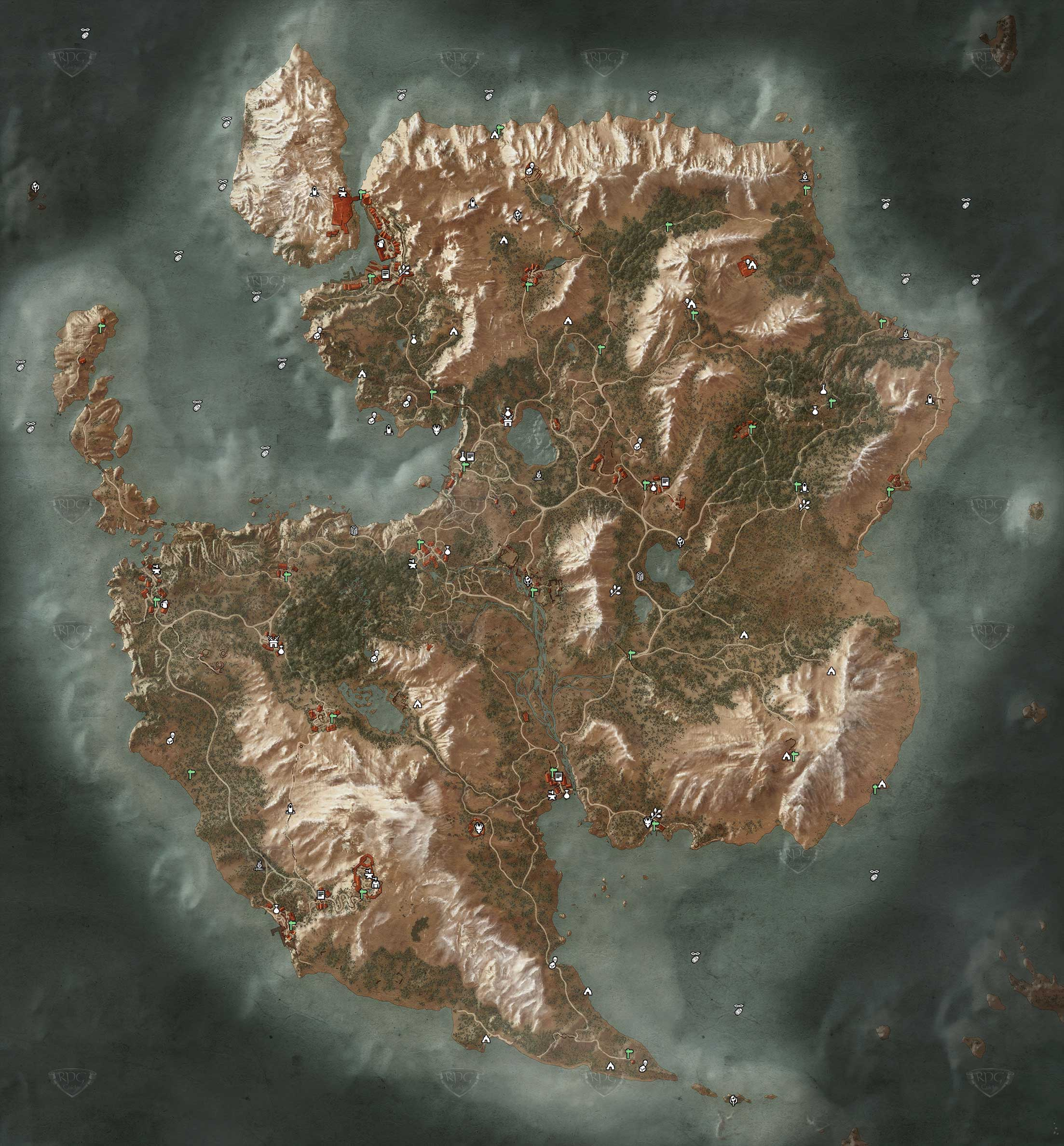 The Witcher Karte.Skellige Ard Skellig Losung The Witcher 3 Rpguides