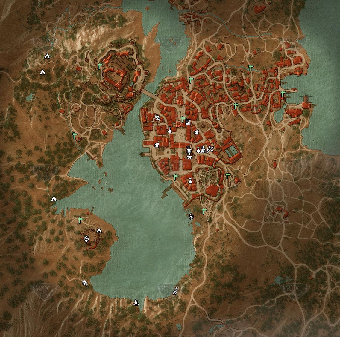 The Witcher Karte.Herzogstum Toussaint The Duchy Of Toussaint Beauclair