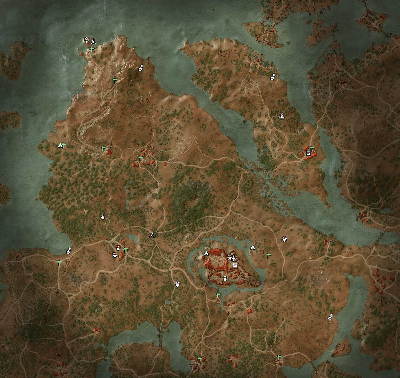 The Witcher Karte.Velen Krahenfels Losung The Witcher 3 Rpguides